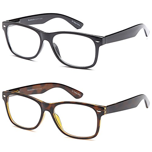 GAMMA RAY READERS Combo Pack of Multiple Classic Men and Women Readers Frames with Spring Hinged Reading Glasses ,1.25x