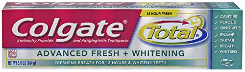 Colgate Total frais Advanced + gel blanchissant dentifrice, 5,8 oz (Pack de 2)