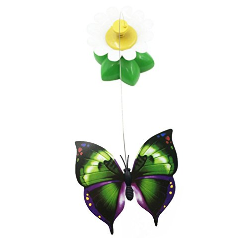 Picture of Patgoal Funny Cat Toys Electric Rotating Butterfly Birds Steel Wire Cat Teaser Fly Toy (Butterfly)