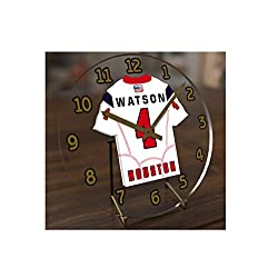 FanPlastic Deshawn Watson 4 Houston Texans Desktop Clock - National Football League Legends Edition !!