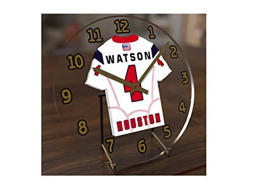 FanPlastic Deshawn Watson 4 Houston Texans Desktop Clock - National Football League Legends Edition !!
