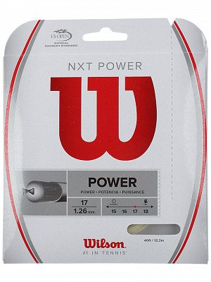 Wilson NXT Power 17 Gauge Natural Color Multifilament Tennis String 2-Pack (2 Sets Per Order)