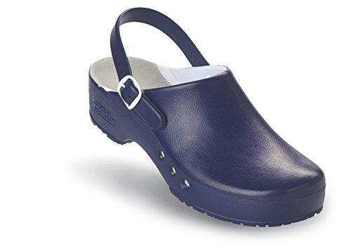 Schürr Chiroclogs Professionale Op-shoe Unisex Con E Senza Cinturino Sul Tallone Blu Con Cinturino Sul Tallone