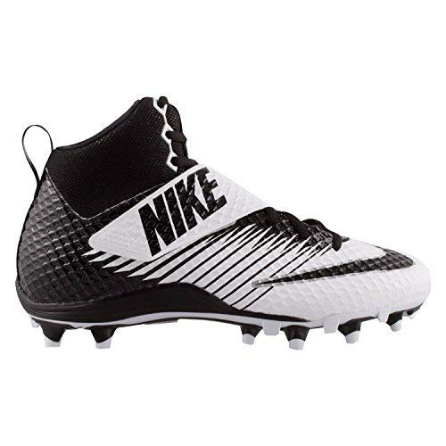 check out 78b8a a0630 Galleon - Nike Lunarbeast Elite TD Football Cleats Shoes Black White Mens  Size 13