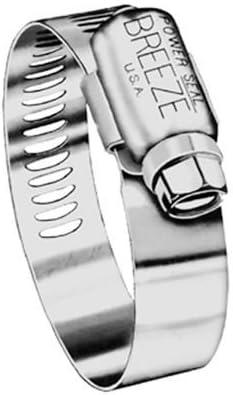 Breezeクランプ63020Breeze Marine Gradeホースクランプ、ステンレススチール、13/ 16に1–3/ 4、–2490118by Breezeクランプ