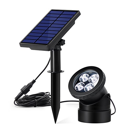 Solar Powered Pond Lights (InnoGear Pond Light Solar Powered USB Outdoor Landscape Lighting Wall Sconce Underwater Submersible Lights Waterproof IP67 for Swimming Pool Aquarium Fountain)