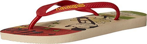 - Havaianas Men's Disney Stylish Beige/Red Sandal 43/44 (US Men's 11/12) M