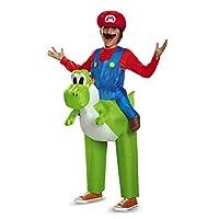 Disfraz de Mario Riding Yoshi Inflatable Child Costume