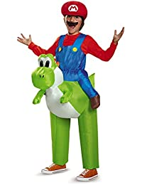85150CH Mario Riding Yoshi Child Costume, One Color, One Size Child