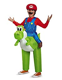 Disguise Costumes Mario Riding Yoshi Child Costume, One Color