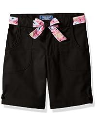 Cherokee - Pantalón Corto de Sarga para niña con cinturón