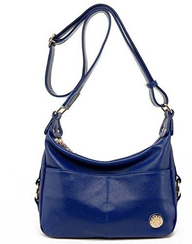 AgooLar Femme Achats Cross-Body-Sacs à main Cartable Sacs à bandoulière, GMBBB181646, Jaune Bleu