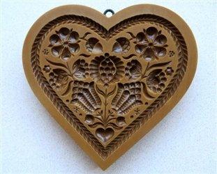 Flower Heart Springerle Cookie Mold