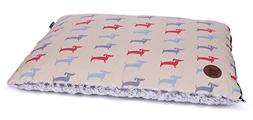 Petface Deli Dog Collection | Reversible Dog Mattress | Pet Bed Pillow| Cream | For Small/Medium Dogs by Petface