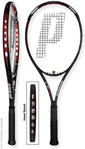 Prince O3 Red MP+ Prestrung Tennis Racquet (4 3/8)