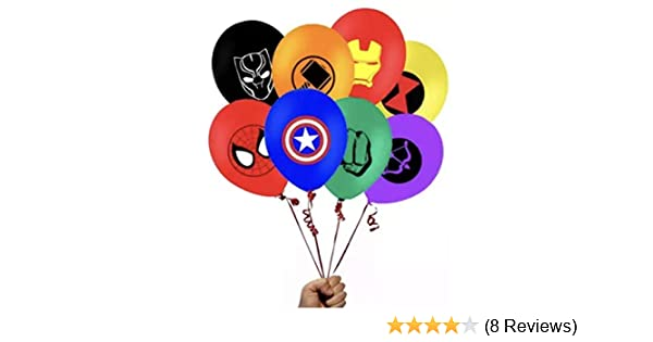 The Incredible Hulk Theme Emblem Party Latex 8 Piece Balloon Set 12 Inch JGE
