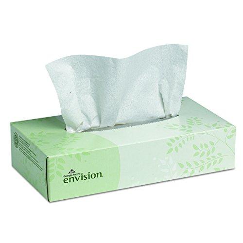 Envision 2-Ply Facial Tissue by GP PRO (Georgia-Pacific), Flat Box, 47410, 100 Sheets Per Box, 30 Boxes Per Case