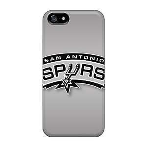 Protective Hard Phone Covers For Apple Iphone 5/5s (muA26167Idhg) Unique Design Realistic San Antonio Spurs Skin