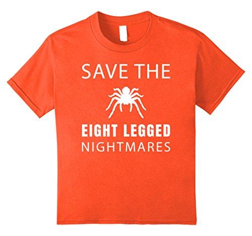 Kids Save the Eight Legged Nightmares Tarantula Spider T Shirt 8 Orange
