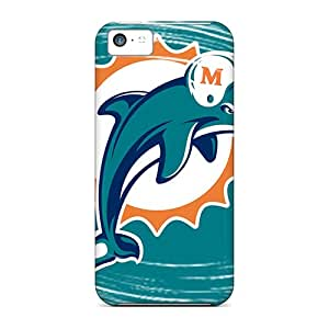 Shockproof Hard Phone Cases For Iphone 5c With Provide Private Custom Vivid Miami Dolphins Skin JonathanMaedel
