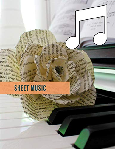 (sheet music: This Book is about  note book journal for note books diarys  and diary notebook journal  or music gift books)
