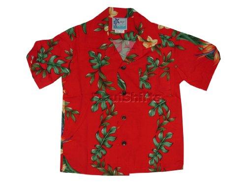 RJC Boys Island Bird of Paradise Panel Rayon Shirt Red 16 by RJC (Image #1)