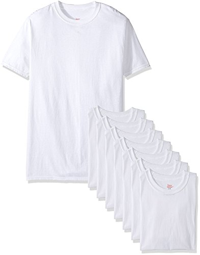 Price comparison product image Hanes Mens White TAGLESS & ComfortSoft & Crewneck Undershirt 7-Pack (White,  X-Large Tall)