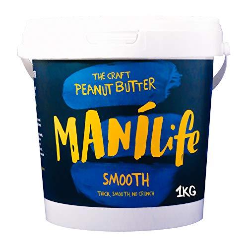 ManiLife 땅콩 버터 - 땅콩 버터 - 물론 모든, 성장 지역, 아니 추가 설탕, 더 팜 오일 - 원래 로스트 부드러운 없습니다 - (1 개 1kg)