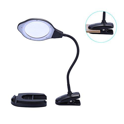 WELife LED Magnifying Glass Lamp and Desktop Illuminated Mag