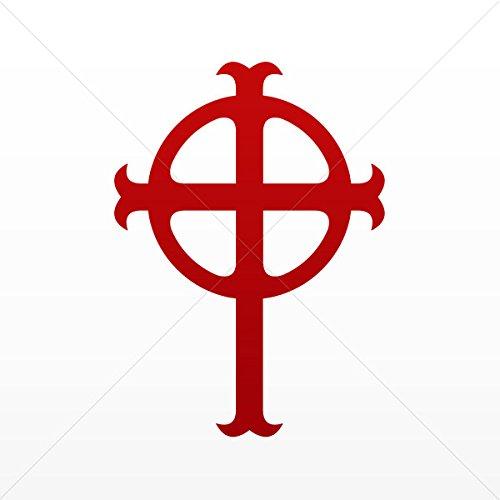 - Sticker Ireland Celtic High Cross Graveyard Tablet Laptop Waterproof S Red Dark (4 X 2.88 In)