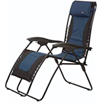 Faulkner 48978 Laguna Style Dual Blue Padded Recliner with Plastic Armrests, X-Large