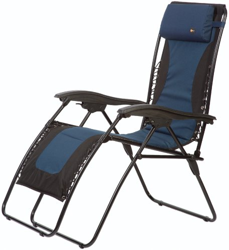 Faulkner 48978 Laguna Style Dual Blue Padded Recliner with Plastic Armrests X-Large