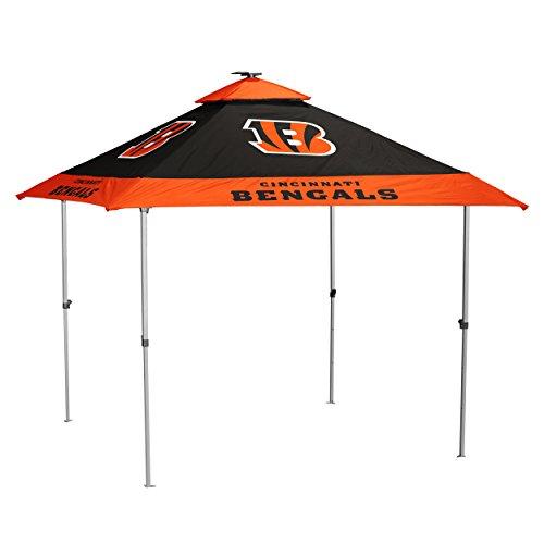 Logo Brands NFL Cincinnati Bengals Pagoda Tent Pagoda Tent, Black, One Size