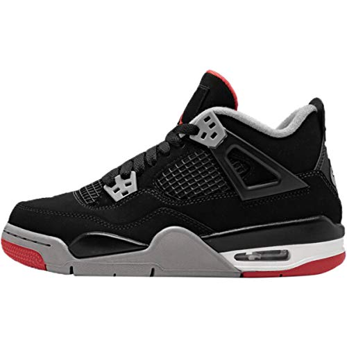 - Nike Air Jordan IV 4 Kids Gs Bred Boys Girls 408452-060 US Size 6Y Black
