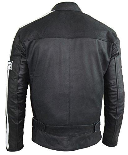 Herren Motorrad Lederjacke (L)