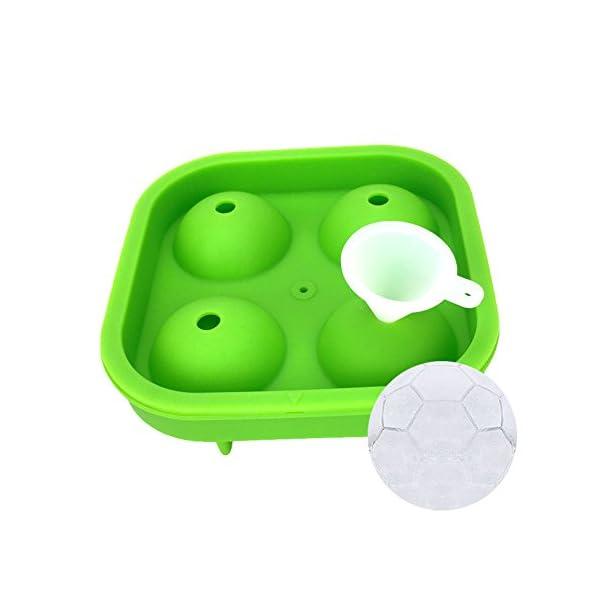 Surenhap Stampo Ghiaccio in Silicone Sfera Vaschette Ice Ball per lcolici, Whisky, Cocktail, Drink, Candy Budino, Latte… 1 spesavip