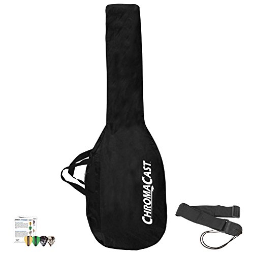 ChromaCast JB-E-NYLON-P Water Resistant Nylon Electric Guitar Bag and Strap with 4 Pick (Electric Nylon Body)