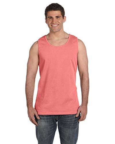 (Comfort Colors Pigment Dyed Tank Top 9360-Neon Red Orange-XL)