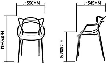 CHHD Chaise de Bureau, Dossier de Chaise ménage Dossier en Plastique Tabouret Adulte Tabouret Moderne et Minimaliste (Couleur: G)