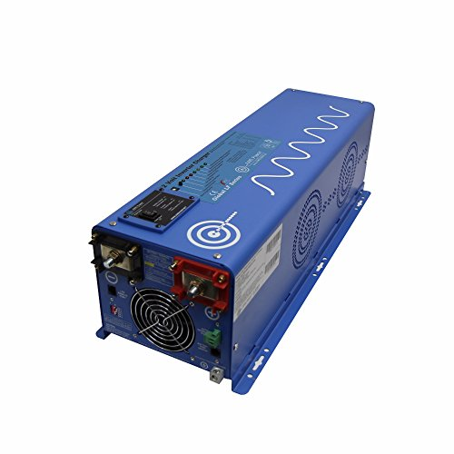 AIMS Power PICOGLF40W12V240VS 12 Volt Pure Sine Inverter Charger 120/240, 4000 Watt Low Frequency Inverter, 12000 Watt Surge For 20 Seconds 300% Surge Capability, 120/240 Vac Output Split Phase, Battery Priority Selector, Terminal Block by Aims
