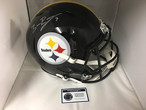 Ben Roethlisberger Signed Autographed Pittsburgh Steelers Full Size Speed Revolution Helmet With Game Model Decals COA & Hologram from Signature Dog Autographs