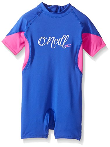 O'Neill Toddler O'Zone UPF 50+ Short Sleeve Spring Suit, Blue/Berry/White, 4 -