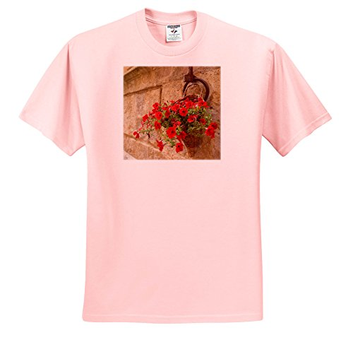 3dRose Danita Delimont - Flowers - Italy, Tuscany, Pienza. Petunia Flowers Spill From a Basket. - T-Shirts - Light Pink Infant Lap-Shoulder Tee (12M) (Tuscany 12 Light)