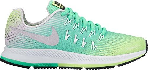 Nike nike zoom pegasus 33 (gs) - ghost green/metallic silver