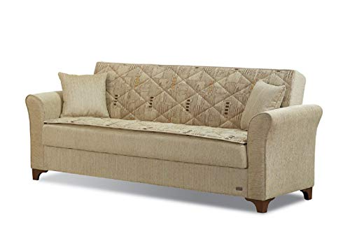 BEYAN SB Main Ave Mid Century Modern Convertible Sleeper Sofa with Storage, 93