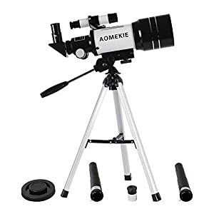 Aomekie AO2009 AO2007 AO2001 Refractor Astronomy Telescope for Beginners, Travel Scope with Backpack and Adjustable Tripod