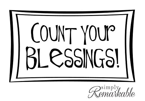 Vinyl Decal Sticker for Computer Wall Car Mac Macbook and More - Count Your Blessings - 5.2 x 3 inches (Blessings Decal Auto compare prices)