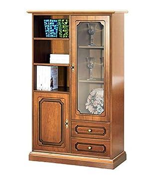 Arteferretto Mueble vitrina modular, mueble de madera con ...