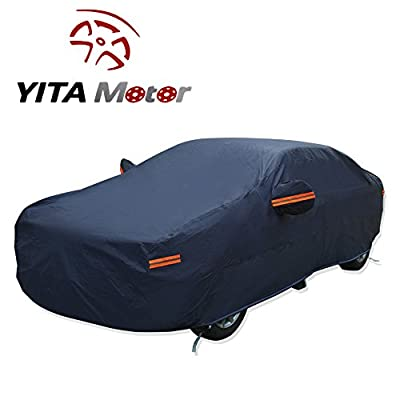 YITAMOTOR 7 Layers Breathable Car Cover PEVA 3XXL Outdoor Waterproof Rain Resist Sun UV Water