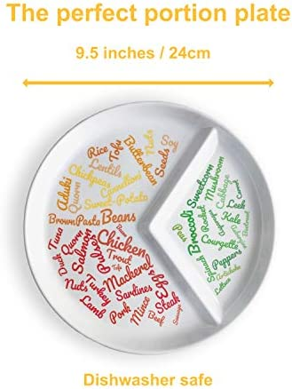 New: Divided Slimming Plate for Easy Portion Control | Beautifully Designed Portion Control & Food Ideas for Sustainable Weight Loss | Easily Follow a Balanced Diet 3